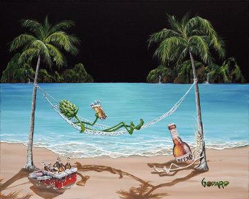 Beer Thirty 2009 24x30 Original Painting - Michael Godard