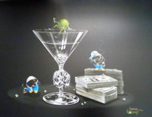 Gangsta Martini 2004 Limited Edition Print by Michael Godard