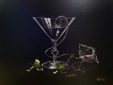 Nursing a Martini 2004 Limited Edition Print by Michael Godard