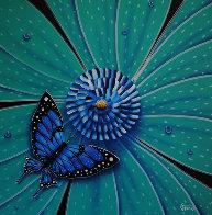 Flower and Bug Series, Set of 4 Artworks 2002 Original Painting by Michael Godard - 1