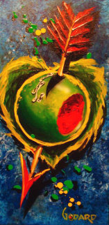 Olive My Heart 2000 36x14 Original Painting - Michael Godard