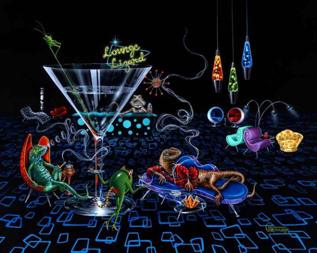Lounge Lizard 2007 Limited Edition Print by Michael Godard