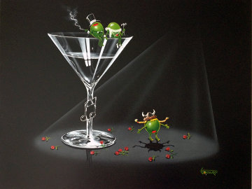 Opera Martini 2005 24x30 Original Painting by Michael Godard