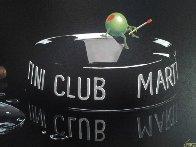 Martini Club 2003 Embellished Limited Edition Print by Michael Godard - 3