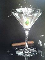Martini Club 2003 Embellished Limited Edition Print by Michael Godard - 2