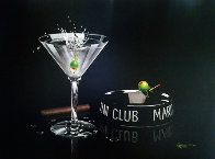 Martini Club 2003 Embellished Limited Edition Print by Michael Godard - 0