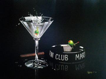 Martini Club 2003 Embellished Limited Edition Print by Michael Godard