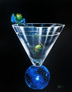 Dry Martini 2004 30x24 Original Painting - Michael Godard