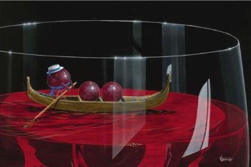 Gondola Grapes AP 2009 Limited Edition Print by Michael Godard