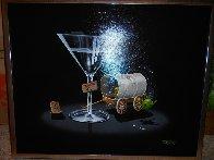 Falling Off the Wagon 2007 24x30 Original Painting by Michael Godard - 2