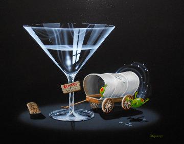 Falling Off the Wagon 2007 24x30 Original Painting by Michael Godard