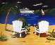 Cocktails on the Beach 2010 24x30 Original Painting by Michael Godard - 0