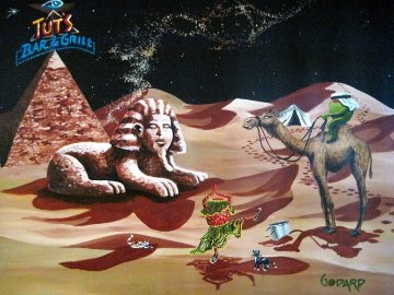 Going For a Ride, Egypt 2009 34x40 Super Huge Original Painting - Michael Godard