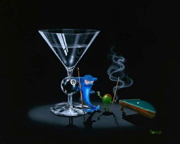 Pool Shark and Pool Shark II, Suite of 2 Giclees AP 2000 Limited Edition Print by Michael Godard