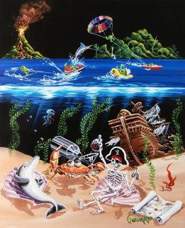 Sand Bar 2 2008 Embellished Limited Edition Print by Michael Godard