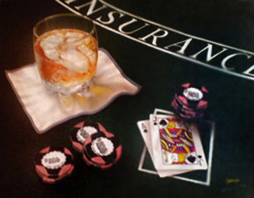 Scotch And Blackjack 1990 Limited Edition Print by Michael Godard