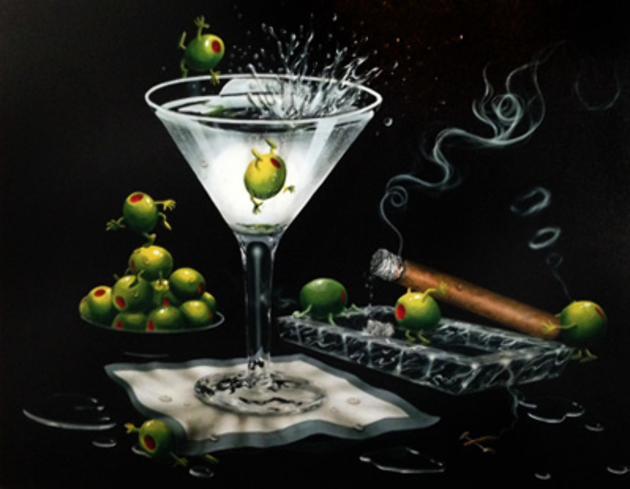 Olive Party II AP 2000 Limited Edition Print by Michael Godard