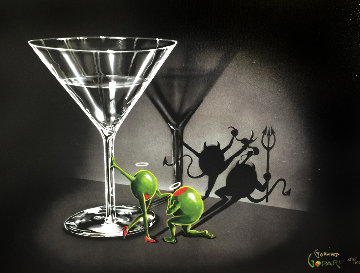 He Devil / She Devil Martini 2 2006 Limited Edition Print by Michael Godard