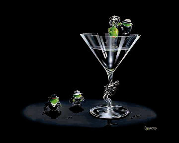 Gangster Martini (2 Shots and a Splash) AP 2008 Limited Edition Print - Michael Godard