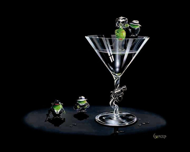 Gangster Martini (2 Shots and a Splash) AP 2008 Limited Edition Print by Michael Godard
