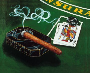 """Vegas 21 2004 """"It's How You Play The Hand"""" Limited Edition Print - Michael Godard"""