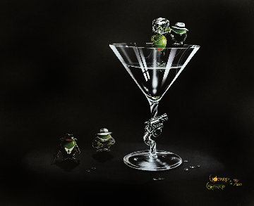 Gangsta Martini (2 Shots and a Splash) 2008 Limited Edition Print by Michael Godard