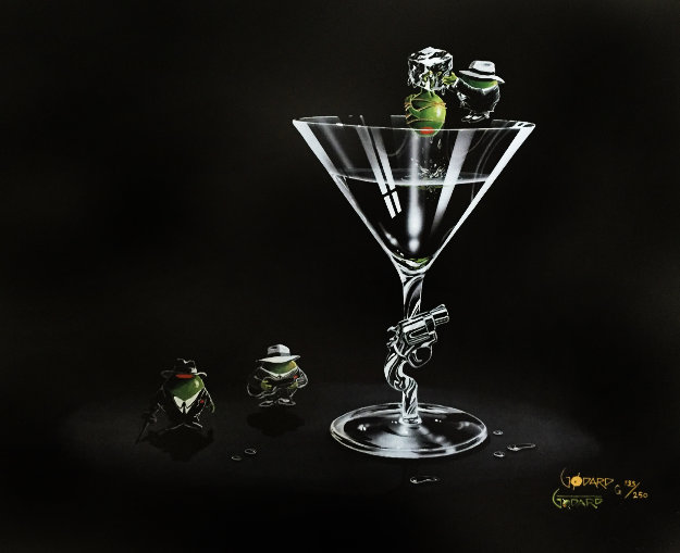 Gangsta Martini (2 Shots and a Splash) 2008 Limited Edition Print by Michael Godard