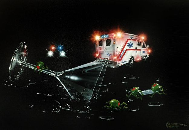 Party Foul Don't Drink And Drive  2005 Limited Edition Print by Michael Godard