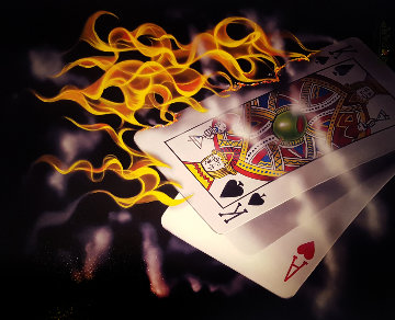 Burning Black Jack Limited Edition Print by Michael Godard