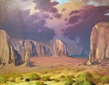 Southwestern Landscape 31x36  Original Painting - Rod Goebel