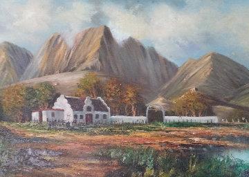 Farm House 14x26 Original Painting - Rod Goebel