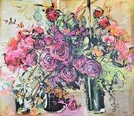 Still Life 45x49 Super Huge Original Painting by Lenner Gogli - 0