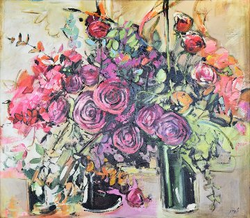 Still Life 45x49 Original Painting - Lenner Gogli