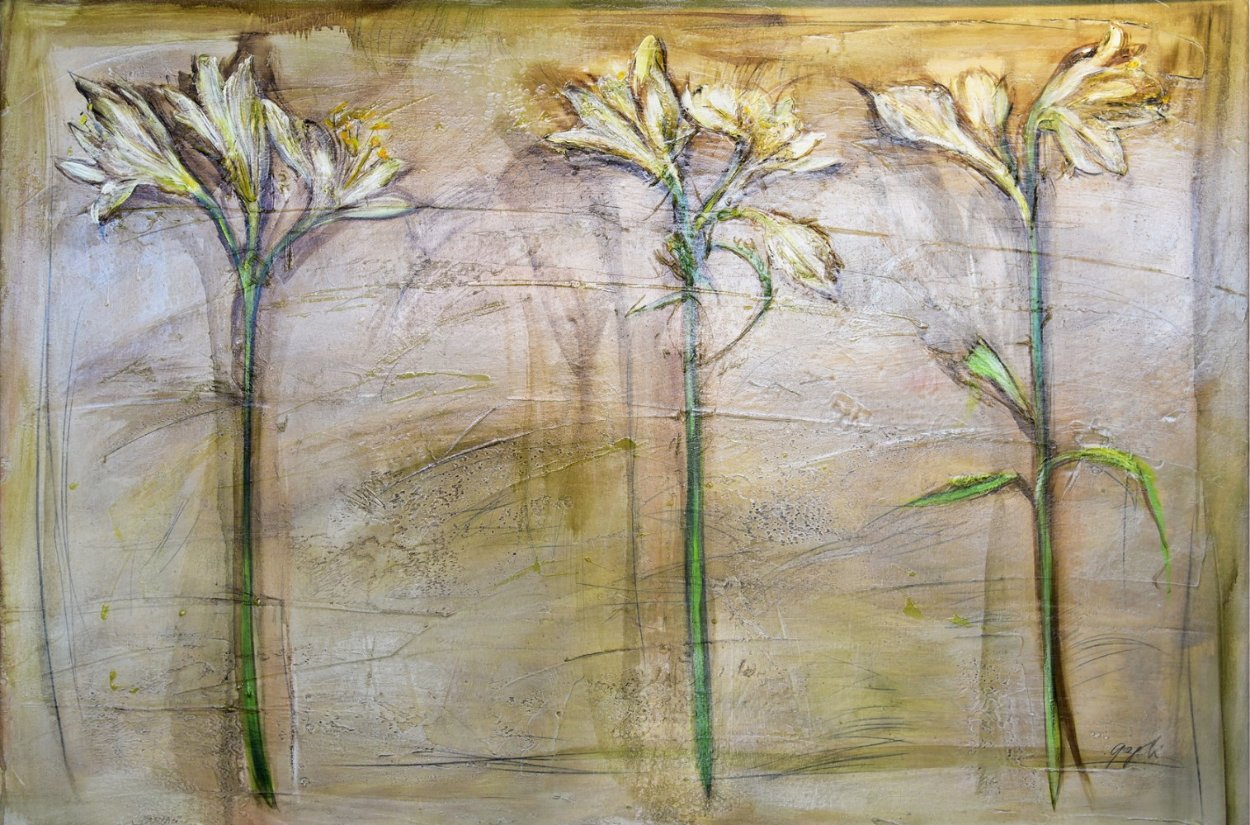 Floral 40x57 Original Painting by Lenner Gogli
