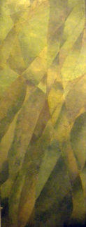 Poplars 1980 51x17 Huge Original Painting - Joseph Goldberg