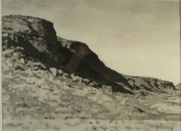 Barker Canyon 1977 17x21 Works on Paper (not prints) - Joseph Goldberg
