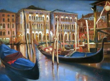 Venice 2006 13x11 Italy Original Painting - Antal Goldfinger