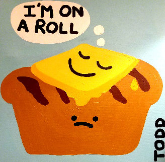 I'm on a Roll 1980 24x24 Original Painting by Todd Goldman