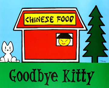 Goodbye Kitty Limited Edition Print - Todd Goldman