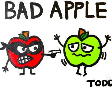 Bad Apple 24x30 Original Painting - Todd Goldman