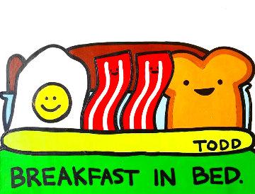 Breakfast in Bed 25x30 Original Painting - Todd Goldman