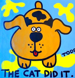 Cat Did It 36x36 Original Painting - Todd Goldman
