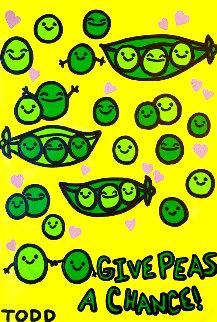 Give Peas a Chance 36x24 Original Painting - Todd Goldman