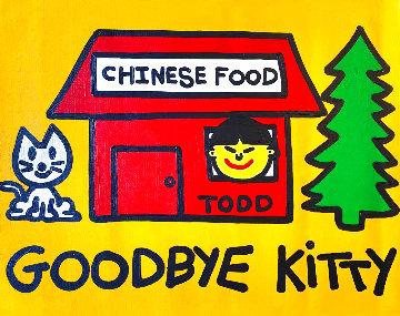 Goodbye Chinese Food 24x30 Original Painting - Todd Goldman