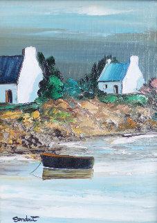 Les Maisons Bretonnes - Morbihan 2000 15x12 Original Painting - Lucien Gondret