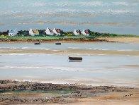 Ciel Moutonneux a Plouharnel 2000 18x24 Original Painting by Lucien Gondret - 1
