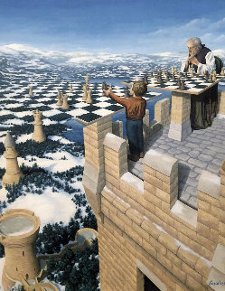 Chess Master Limited Edition Print - Rob Gonsalves