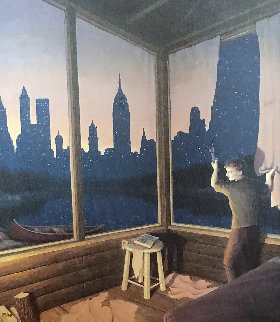 A Change of Scenery - New York Skyline Limited Edition Print by Rob Gonsalves