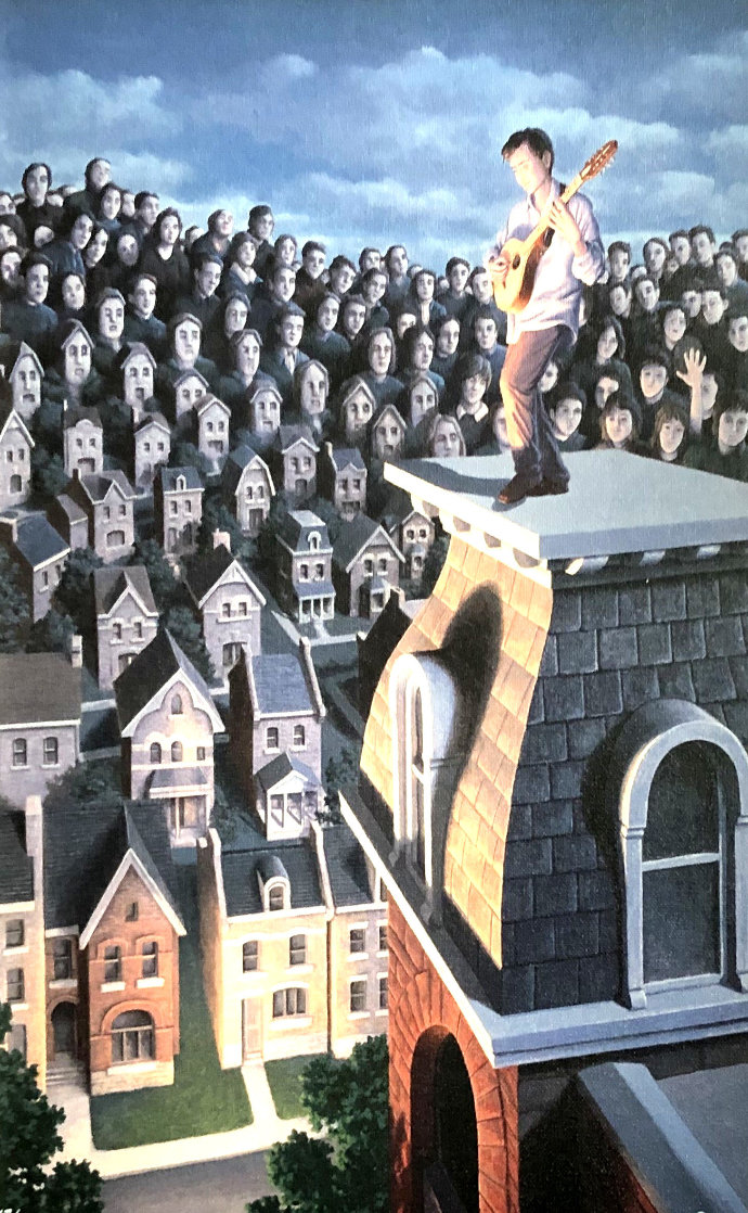Performer And His Public 31x25 Limited Edition Print by Rob Gonsalves