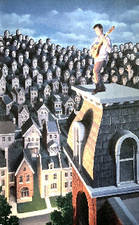 Performer And His Public 31x25 Limited Edition Print - Rob Gonsalves
